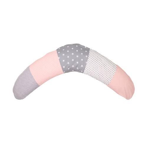 Podporna blazina za dojenje siva-roza 03