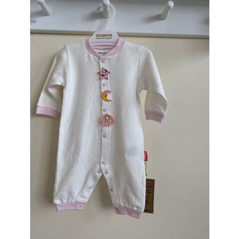 pajac za dojenčka pink