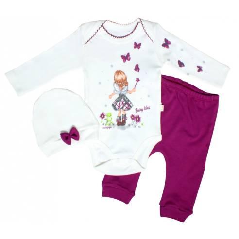 tri delni komplet za deklice od 3-12 mesecev