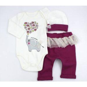 tridelni komplet za dojenčka od 3-12 mesecev