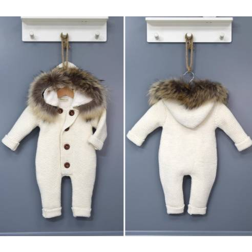 kombinezon za dojenčka krem