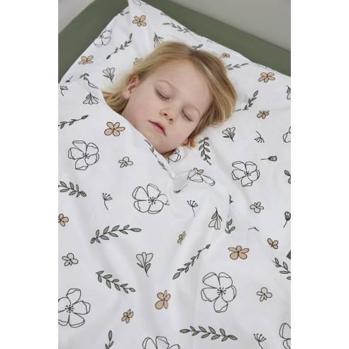 Otroška bombažna posteljnina Meyco, rožice