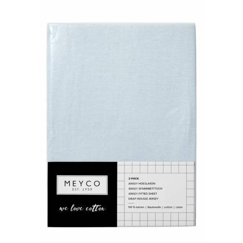 Otroška rjuha 120x60cm Meyco svetlo modra 02