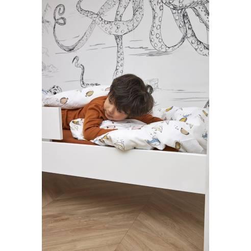 Otroška bombažna posteljnina Meyco, morje