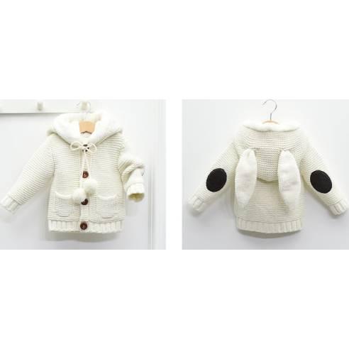 zimska jopica za dojenčka krem