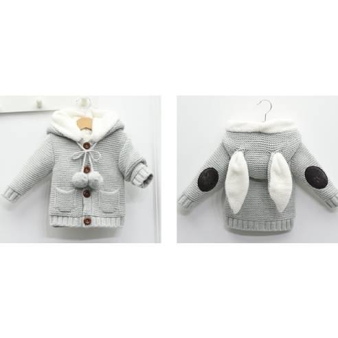 zimska jopica za dojenčka siva