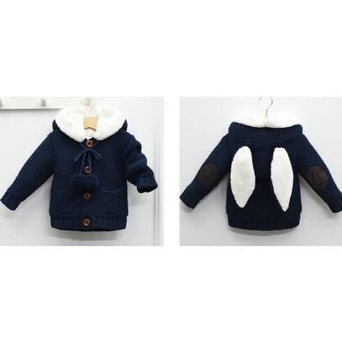 zimska jopica za dojenčka temno modra