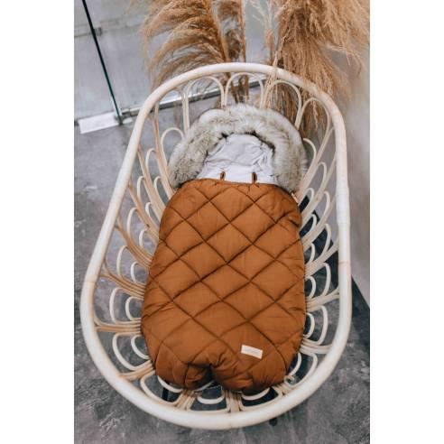 Zimska vreča za dojenčka cimet 02