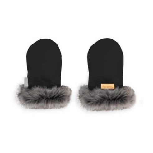 Zimske rokavice za otroški voziček črna