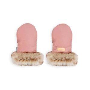 Zimske rokavice za otroški voziček roza-pink
