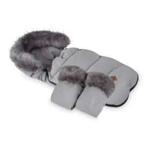 zimska vreča in rokavice za otroški voziček menta 04
