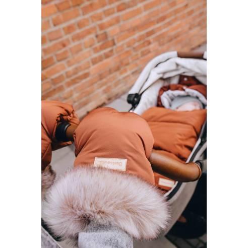 zimske rokavice za otroški voziček cimet 0